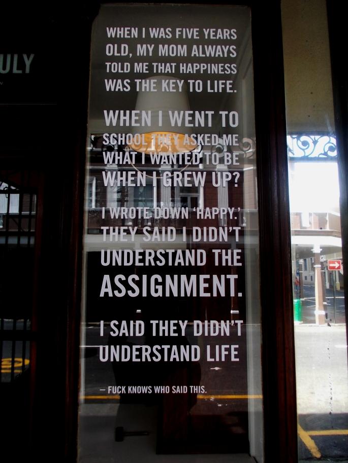 Happiness - photo of coffee shop window